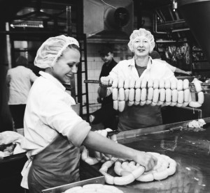 Women in a sausage factory