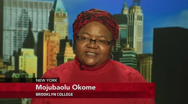 On 5 May 2014, ARC Distinguished CUNY Fellow Mojúbàolú Olúfúnké Okome appeared on PBS Newshour to discuss the abduction of hundreds of girls by Boko Haram, in Nigeria.